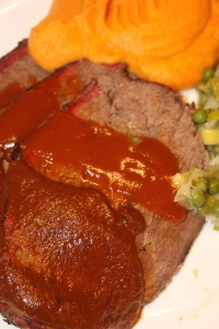 Brisket, sauces and sides